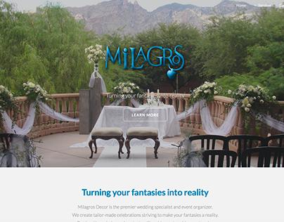 Milagros Decor Website
