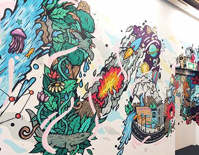 Transformation Mural - Te Papa Museum
