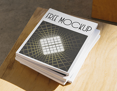Free Magazine Cover Mockup [PSD file download]
