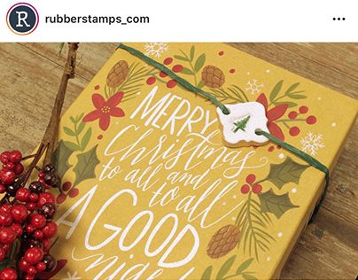 Stamped Gift Tags | Photography | Social Media