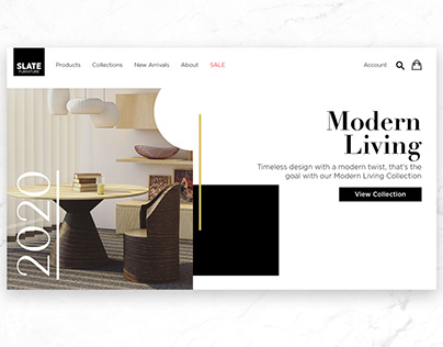 Slate Furniture Website Redesign