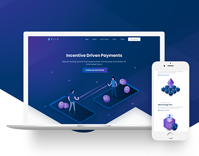 Elix - Cryptocurrency Landing Page
