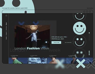 Fashion week concept | Landing page