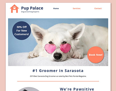 Dog Groomer Wix Website- Pup Palace