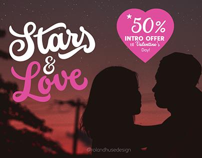 Stars & Love Script Font