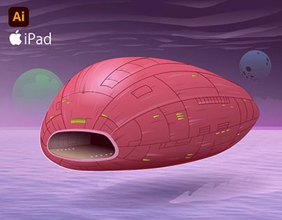 Ai on iPad: Spaceship