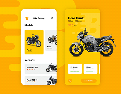 Bike Rent App UI