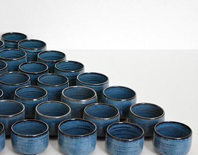 Zhao Zhou Teahouse blue cups & chawans