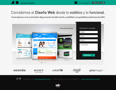 Landing Page AED