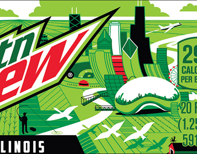 Mountain Dew / DEWnited States Label Designs