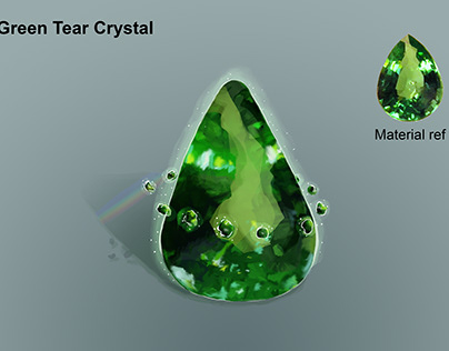 Green Tear Cristal
