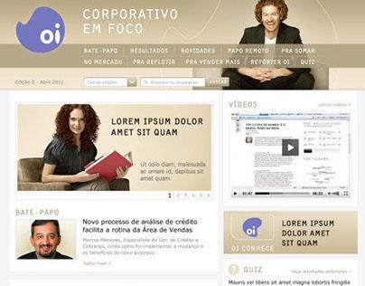 Portal de informações da área interna empresarial da Oi