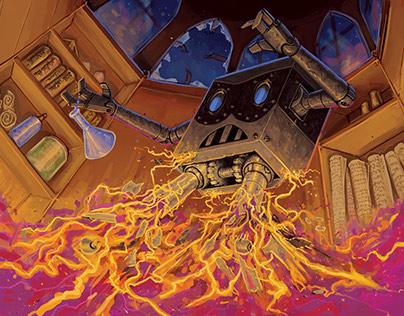 Laboratory Mayhem card illustration