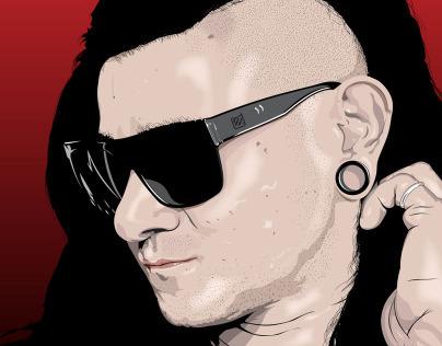 Skrillex Vector Portrait