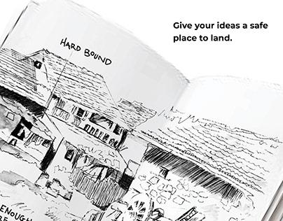 Landing Zone Sketchbook Print Campaign