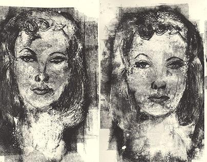 Scarlett copylitography triptych