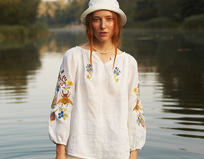 "Lookbook for embroidered shirts ""Vilni ludi"""