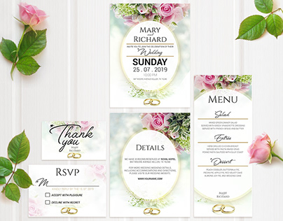 Wedding Invitation LOVE SUITE
