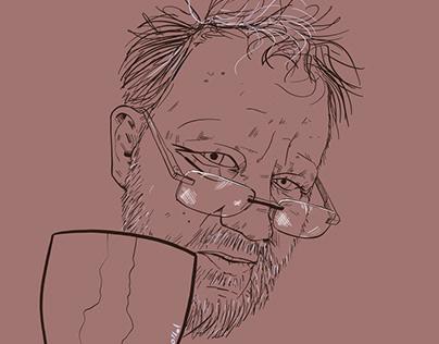 Self-portrait sketches in october, november 2020
