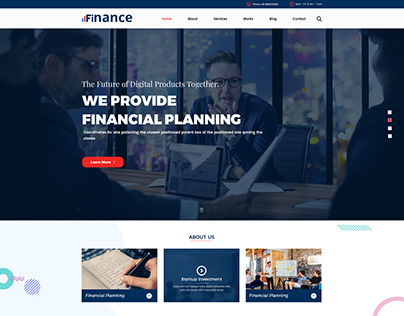 Finance - Finances/Accounting PSD Template