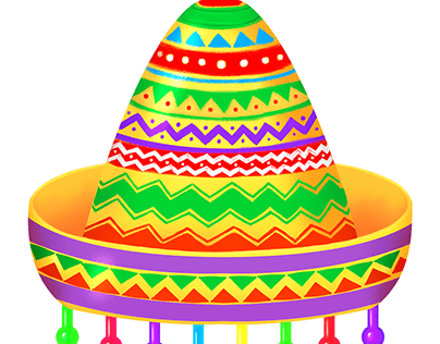 Mexican Fiesta Skill Game Object - Hat