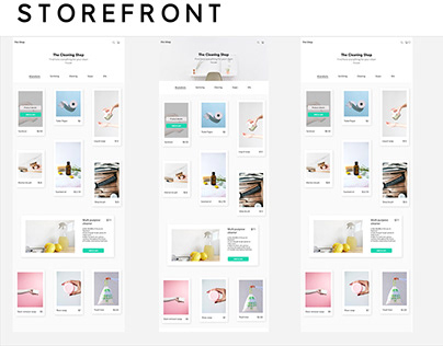 Storefront UX/UI Design + One Page Checkout