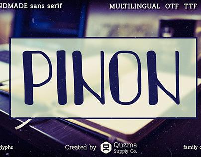 Pinon | handmade sans serif typeface
