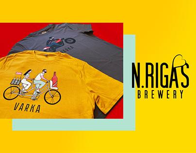 Корпоративный мерч для пивоварни N.RIGAS BREWERY