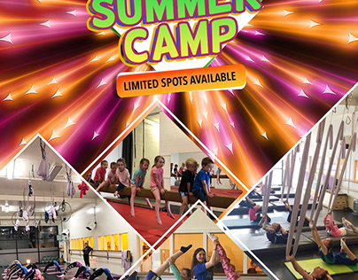 Summer Camp Poster for Elevate Yoga Studio
