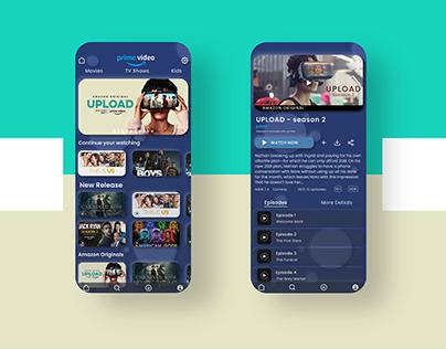 Neumorphisitic UI design concept of Prime Video