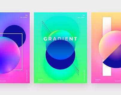 Gradient posters