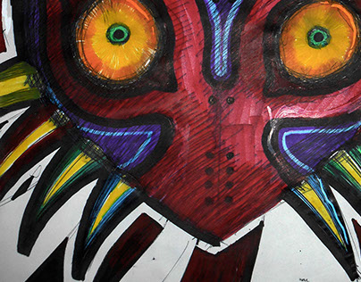Majora's Mask Fan art and paper sketch