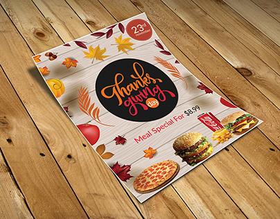 #Thanksgiving Restaurant Flyer