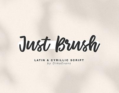 Just Brush / Cyrillic font