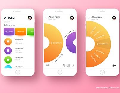 Musiq App UI