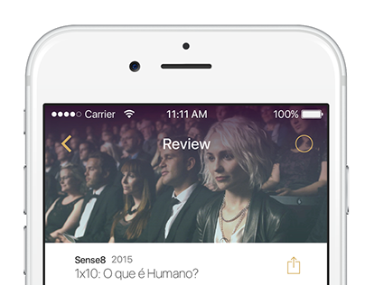 Interface App Concept - TV Series Reviews
