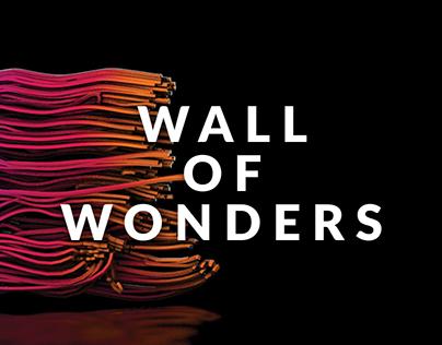 Wall of Wonders - motion design art installation
