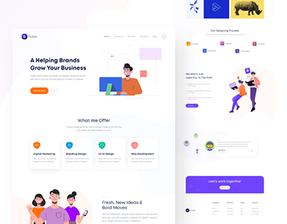 Folax Digital Agency Landing Pages