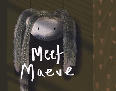 "Children's Book Illustration Cover - ""Meet Maeve"""