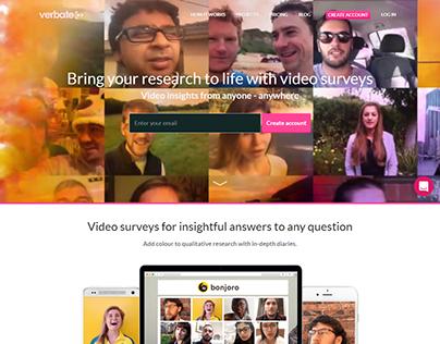 Verbate Video surveys webdesign inspiration