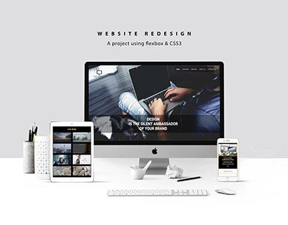 Website redesign using flexbox - responsive design