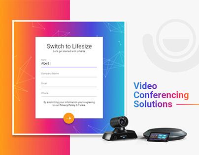 LifeSize Landing page design
