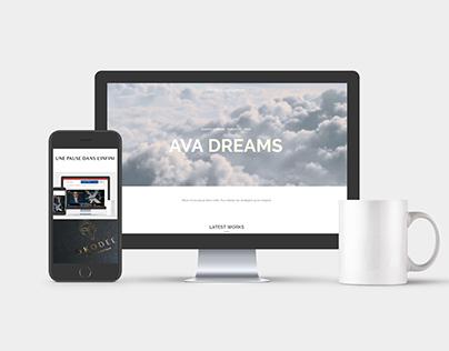 Mock Up Ava Dreams #designagency #teamwork #responsive