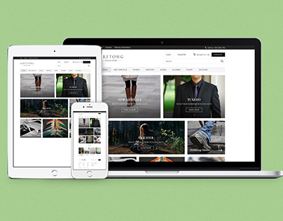 Free GRETONG E commerce Html5 Template