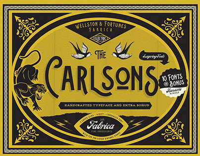 Carlsons 10 Fonts & Extra