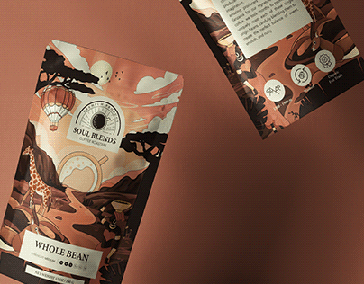 Illustrated Coffee Package: Soul Blends