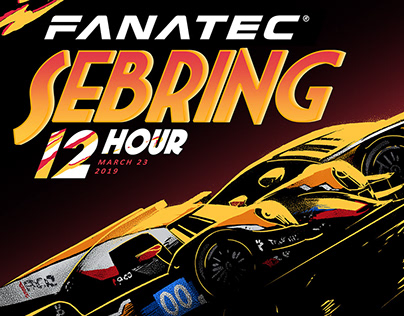 Poster Design - Fanatec Sebring 12 Hour