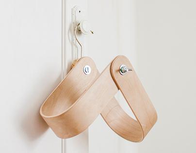 Percha wall hung minimal magazine rack