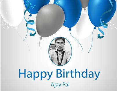 Happy Birthday Flyer - Ajaypal