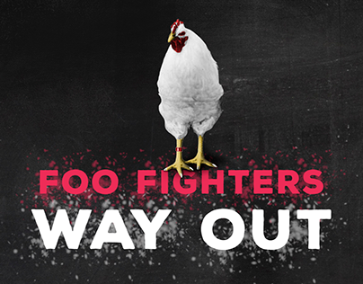 Foo Fighters' Advertising Campaign - School Project